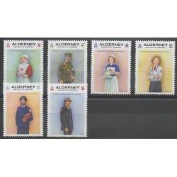 Aurigny (Alderney) - 2011 - No 422/427 - Santé ou Croix-Rouge