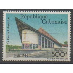 Gabon - 1986 - No 611 - Églises