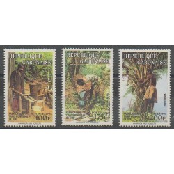 Gabon - 1993 - Nb 764/766 - Gastronomy
