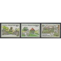 Singapour - 1979 - No 331/333 - Fleurs