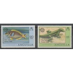 Anguilla - 1980 - Nb 350/351 - Rotary