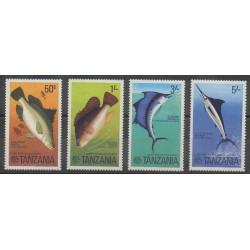 Tanzanie - 1977 - No 64/67 - Animaux marins