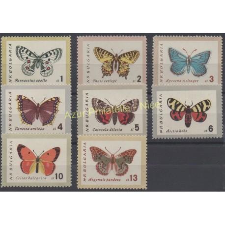Bulgarie - 1962 - No 1155/1162 - Papillons