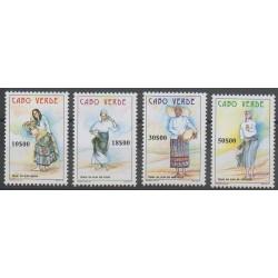 Cap-Vert - 1998 - No 722/725 - Folklore - Costumes