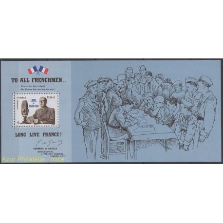 France - Bloc souvenir - 2010 - No BS 48 - de Gaulle