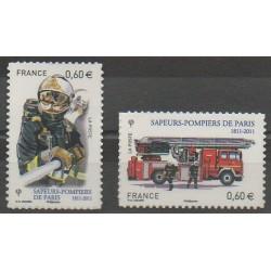 France - Autoadhésifs - 2011 - No 601/602 - Pompiers