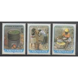 Cap-Vert - 1986 - No 497/499 - Santé ou Croix-Rouge