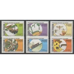 Cap-Vert - 1988 - No 518/523 - Insectes