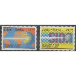 Cap-Vert - 1991 - No 587/588 - Santé ou Croix-Rouge