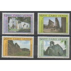 Cap-Vert - 1991 - No 593/596 - Monuments - Tourisme