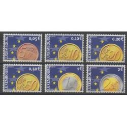 Luxembourg - 2001 - No 1497/1502 - Monnaies, billets ou médailles
