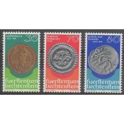 Liechtenstein - 1977 - No 614/616 - Monnaies, billets ou médailles