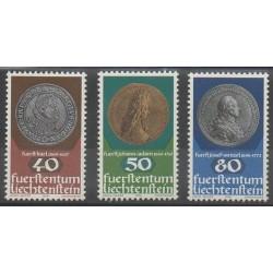 Liechtenstein - 1978 - No 651/653 - Monnaies, billets ou médailles