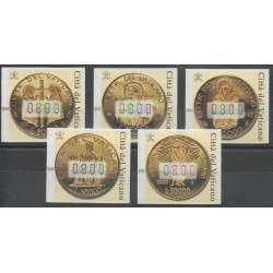 Vatican - 2001 - Nb TD6/TD10 - Coins, Banknotes Or Medals