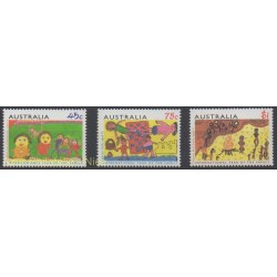 Australia - 1994 - Nb 1359/1361 - Children's drawings