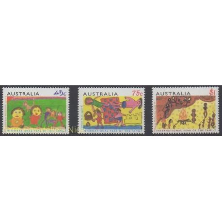 Australie - 1994 - No 1359/1361 - Dessins d'enfants