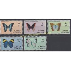 Éthiopie - 1967 - No 482/486 - Papillons