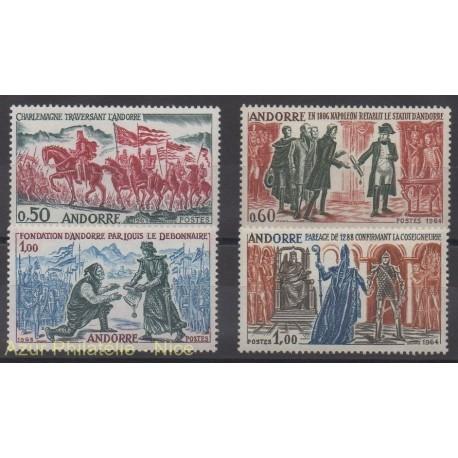 French Andorra - 1963 - Nb 167/170 - History