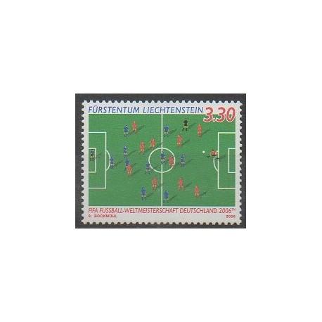 Timbres liechtenstein 2006 no 1352 coupe du monde de football - Coupe du monde de football 2006 ...