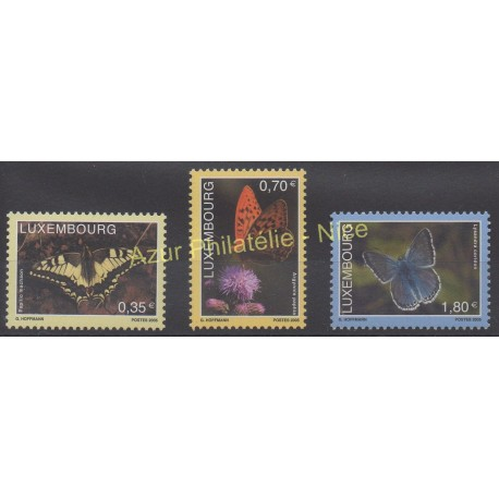 Luxembourg - 2005 - No 1634/1636 - Papillons