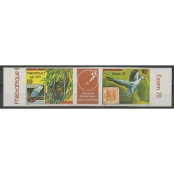 Gabon - 1978 - Nb 215A ND - Birds - Stamps on stamps