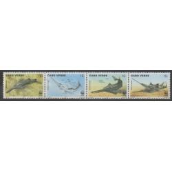 Cap-Vert - 1997 - No 700/703 - Animaux marins - Espèces menacées - WWF