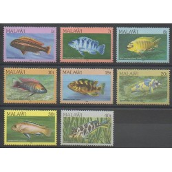 Malawi - 1986 - No 473/480 - Animaux marins