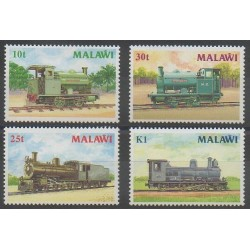 Malawi - 1987 - Nb 493/496 - Trains