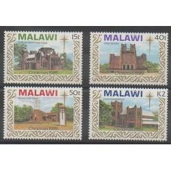 Malawi - 1989 - No 549/552 - Noël - Églises