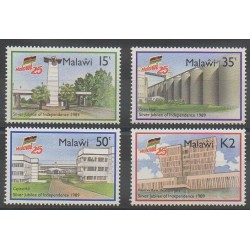 Malawi - 1989 - No 540A/540D - Histoire - Monuments
