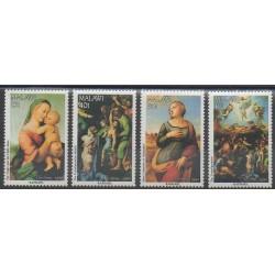 Malawi - 1990 - No 561/564 - Noël - Peinture