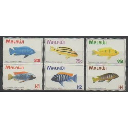 Malawi - 1994 - Nb 632/637 - Sea animals