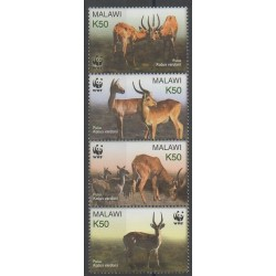 Malawi - 2003 - No 713/716 - Mammifères - Espèces menacées - WWF