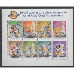 Azerbaïdjan - 1998 - No 375/382 - Échecs - Walt Disney