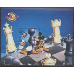 Azerbaïdjan - 1998 - No BF43 - Échecs - Walt Disney