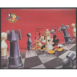 Azerbaïdjan - 1998 - No BF42 - Échecs - Walt Disney