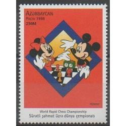 Azerbaïdjan - 1998 - No 374 - Échecs - Walt Disney