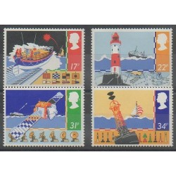 Great Britain - 1985 - Nb 1182/1185 - Lighthouses - Boats
