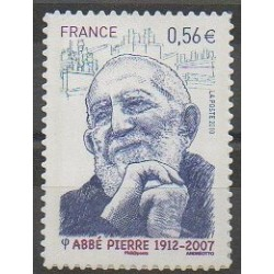 France - Self-adhesive - 2010 - Nb 389 - Religion - Celebrities