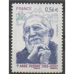 France - Autoadhésifs - 2010 - No 389 - Religion - Célébrités