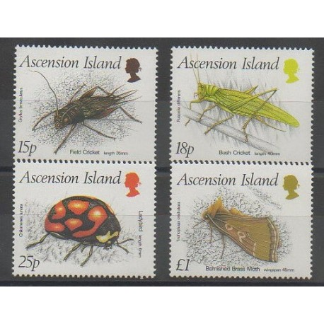 Ascension Island - 1988 - Nb 447/450 - Insects