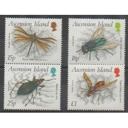 Ascension Island - 1989 - Nb 478/481 - Insects