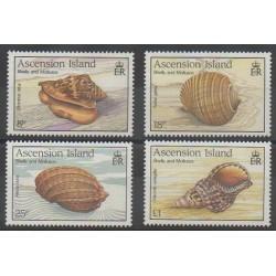 Ascension Island - 1989 - Nb 492/495 - Sea animals