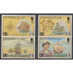 Ascension Island - 1992 - Nb 559/562 - Christophe Colomb