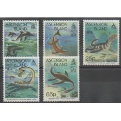 Ascension - 1994 - No 601/605 - Animaux préhistoriques - Philatélie