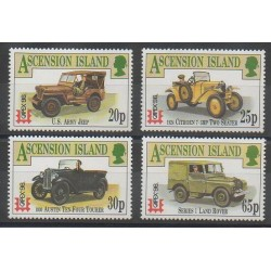 Ascension Island - 1996 - Nb 653/656 - Cars - Philately