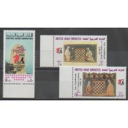 Emirats arabes unis - 1986 - No 201/203 - Échecs