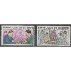 Djibouti - 1980 - No 519/520 - Échecs