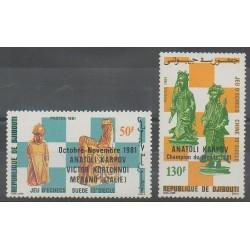 Djibouti - 1981 - No 548/549 - Échecs