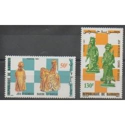 Djibouti - 1981 - No 541/542 - Échecs